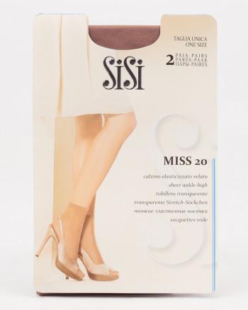 Носки и подследники MISS 20 NEW  (носки 2 пары), Sisi